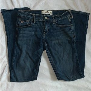 5S Hollister Boot Medium-Wash Junior Fit Jeans